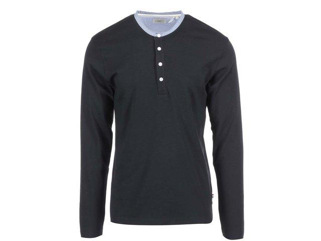 Černé triko s dlouhým rukávem Lindbergh