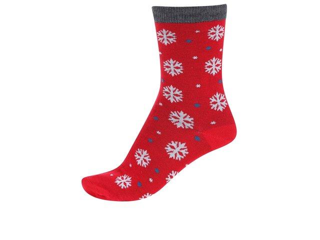 Červené dámské bambusové ponožky s vločkami Braintree Blair