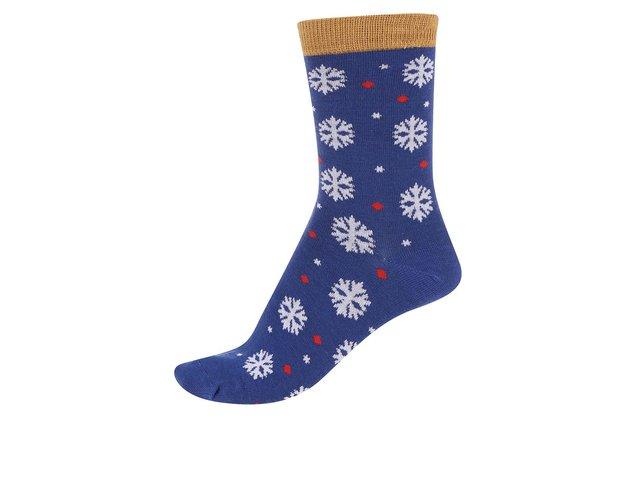 Modré dámské bambusové ponožky s vločkami Braintree Blair