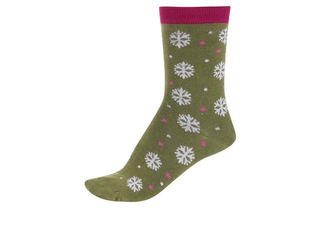 Zelené dámské bambusové ponožky s vločkami Braintree Blair