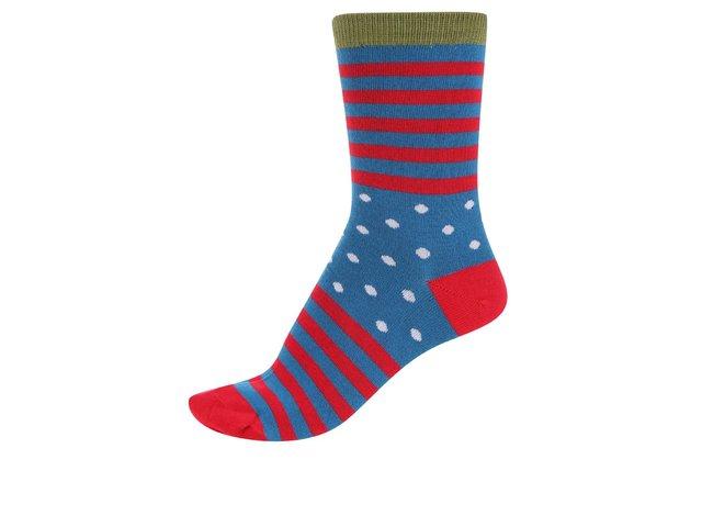 Červeno-modré dámské bambusové ponožky Braintree Wanda Clye