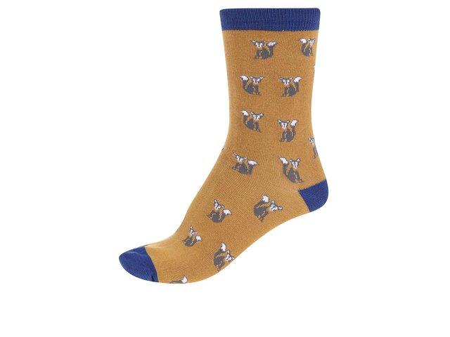Hořčicové dámské bambusové ponožky Braintree Foxy