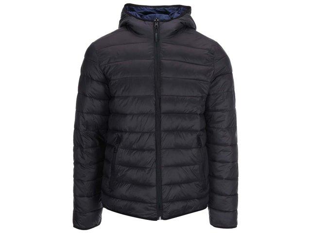 Černá/modrá oboustranná bunda s kapucí Lindbergh