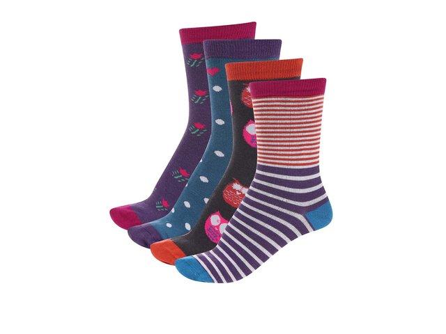 Dárková sada čtyř párů dámských bambusových ponožek Braintree Winter Box