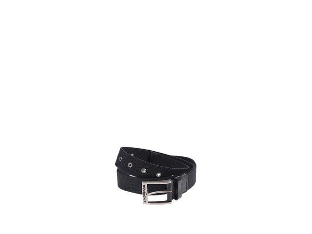 Černý pánský pásek Horsefeathers Ron