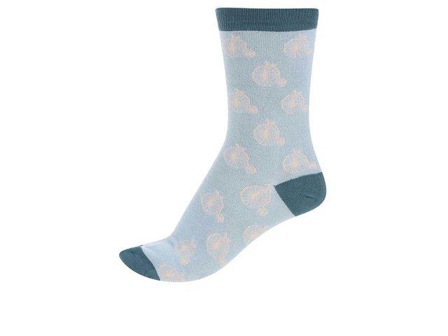 Tyrkysové dámské bambusové ponožky Braintree Penny Farthing