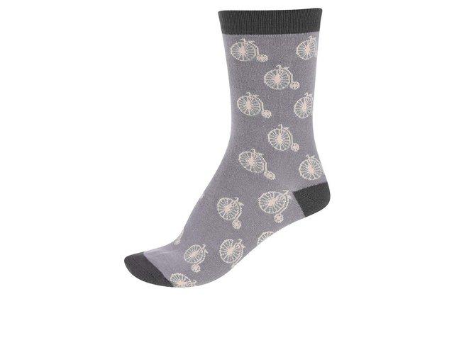 Šedé dámské bambusové ponožky Braintree Penny Farthing