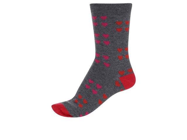 Šedé dámské bambusové ponožky se srdíčky Braintree Melrose