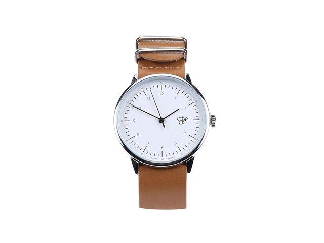 Hnědé unisex kožené hodinky Cheapo Harold