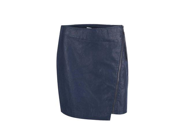 Tmavě modrá sukně se zipem Vero Moda Stella