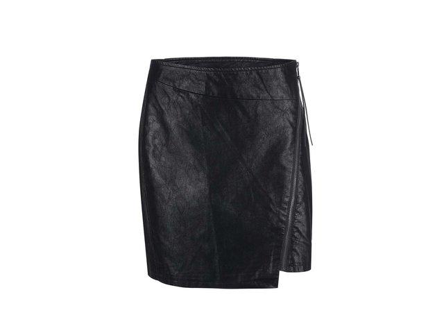 Černá sukně se zipem Vero Moda Stella