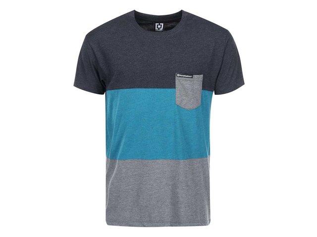 Modro-šedé pánské triko s kapsou Horsefeathers Concept