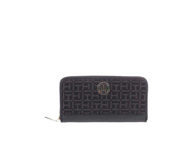 Černá dámská vzorovaná peněženka Tommy Hilfiger Louise