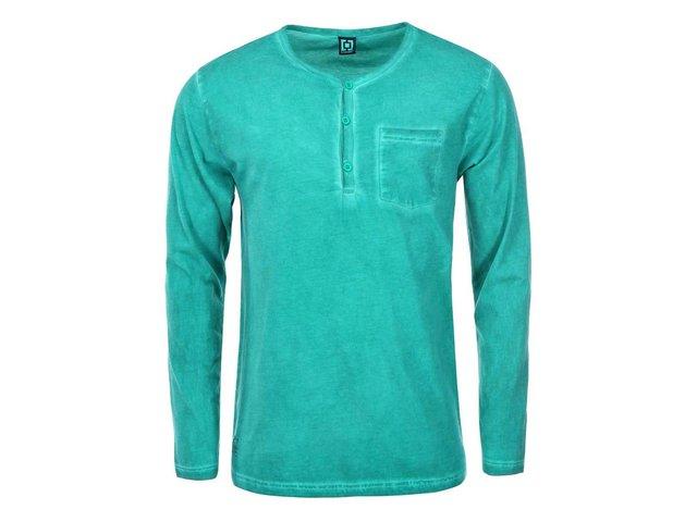Zelené pánské triko s dlouhým rukávem Horsefeathers Mill