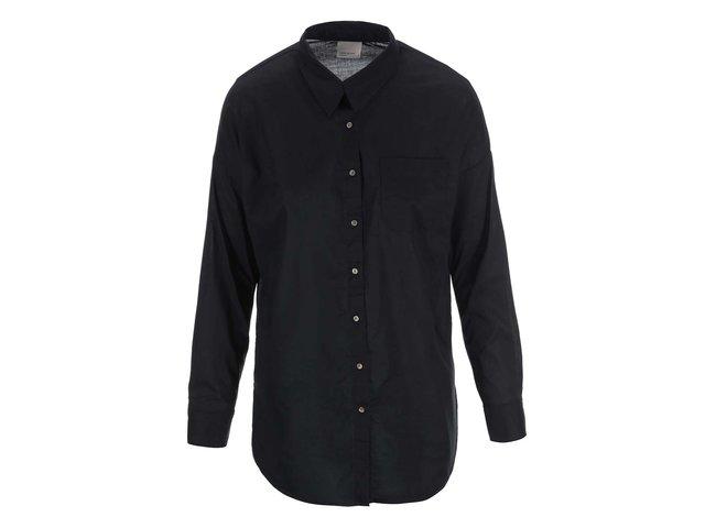 Černá košile s rozparky Vero Moda Classic