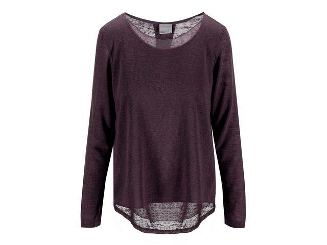 Vínový tenký svetr Vero Moda Emily