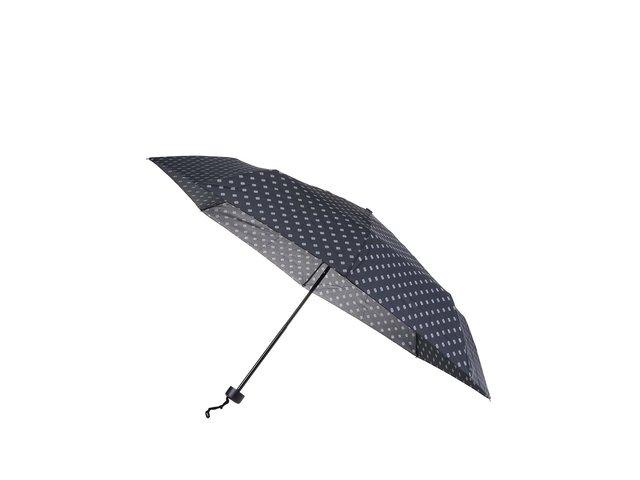Černý skládací deštník se vzory Derby