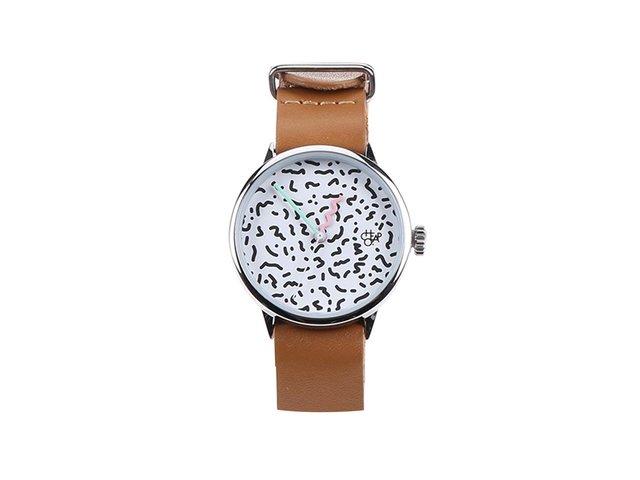 Hnědé dámské kožené hodinky Cheapo Harold Mini Memphis