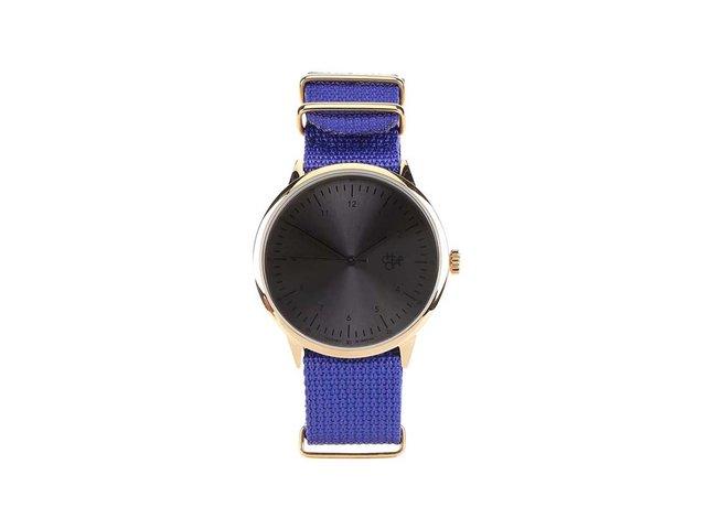 Modré dámské hodinky Cheapo Harold Royal