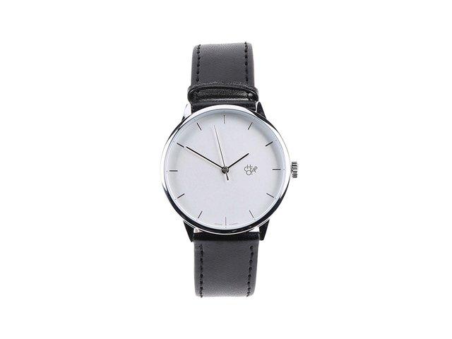 Černé unisex minimalistické hodinky Cheapo Khorshid Silver