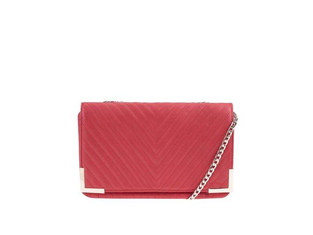 Červená prošívaná kabelka přes rameno ALDO Sepino