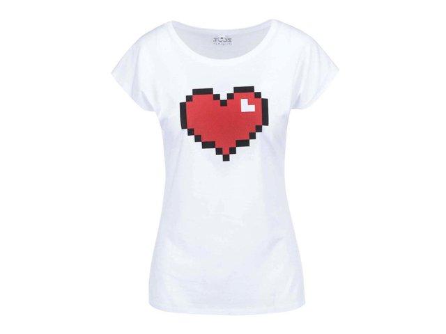 Bílé dámské tričko ZOOT Originál Pixel srdce