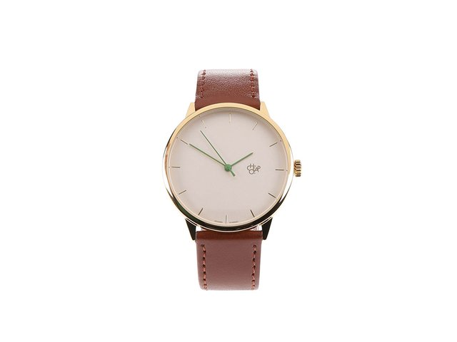 Hnědé unisex minimalistické hodinky Cheapo Nawroz
