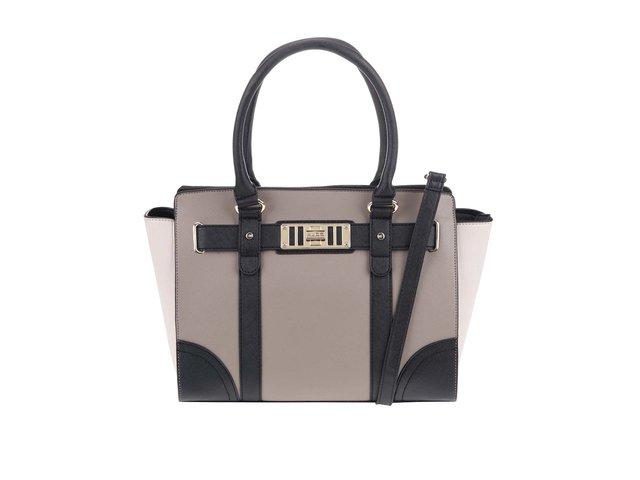 Černo-béžová kabelka s přezkou ve zlaté barvě ALDO Marana