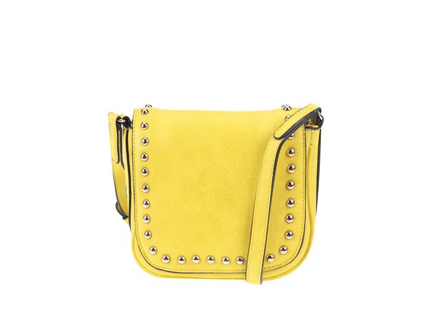 Žlutá malá kabelka se cvočky ALDO Load