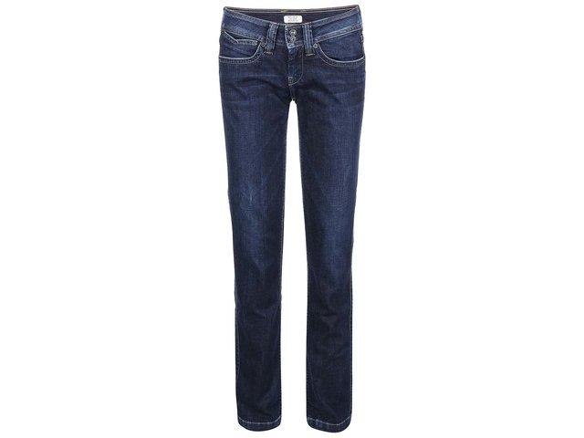 Modré dámské rovné džíny Pepe Jeans Banji
