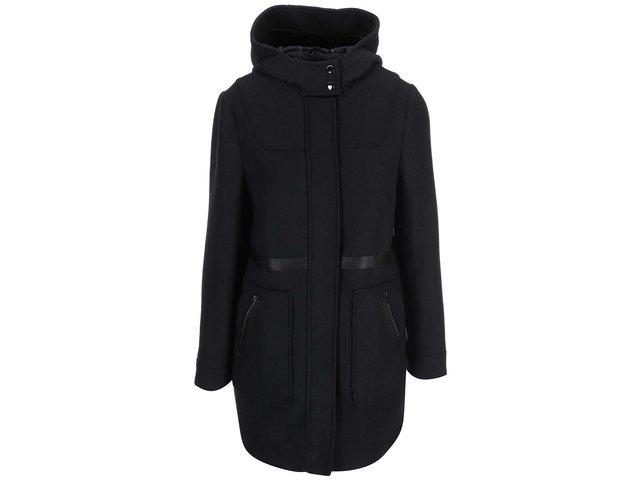 Černý kabát s kapucí Dorothy Perkins