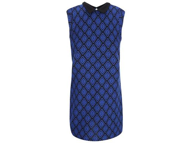 Černo-modré vzorované minišaty Dorothy Perkins