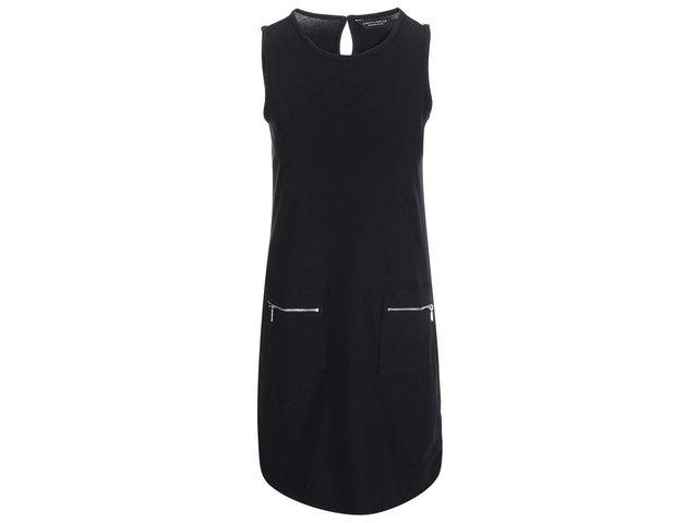 Černé šaty se zipy Dorothy Perkins