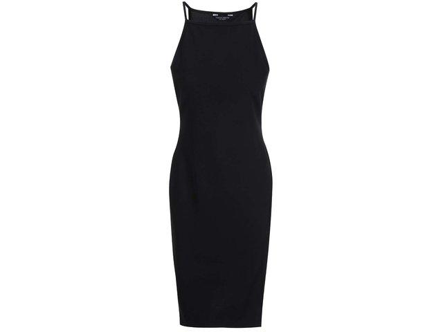 Černé strečové šaty na ramínka Dorothy Perkins