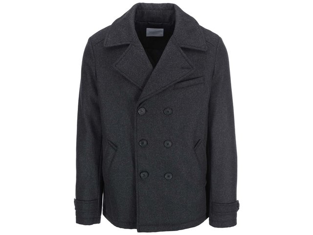 Tmavě šedý kabát Selected Mercer