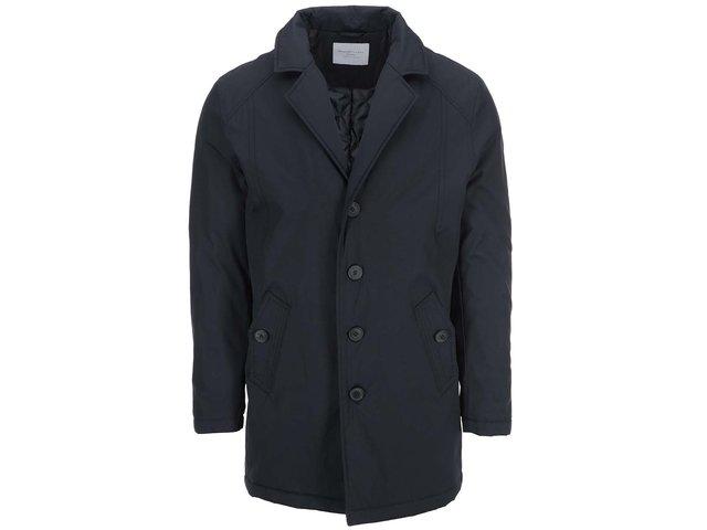 Tmavě modrý delší kabát Selected Notive