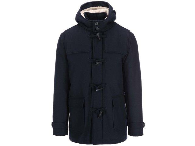 Tmavě modrý kabát s kapucí Selected Carlyle