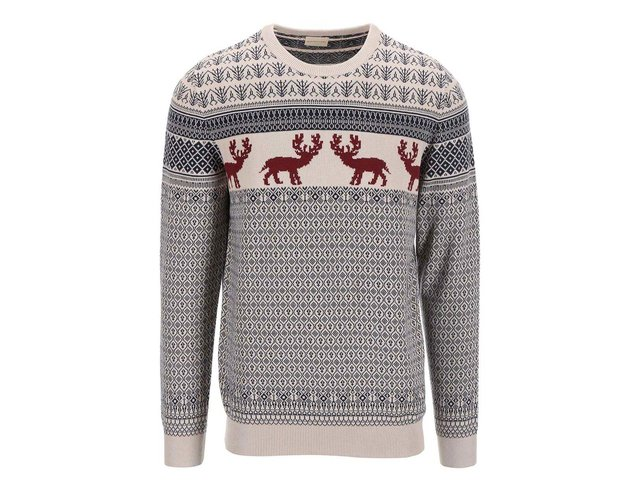 Béžový svetr s norským vzorem Selected Fair
