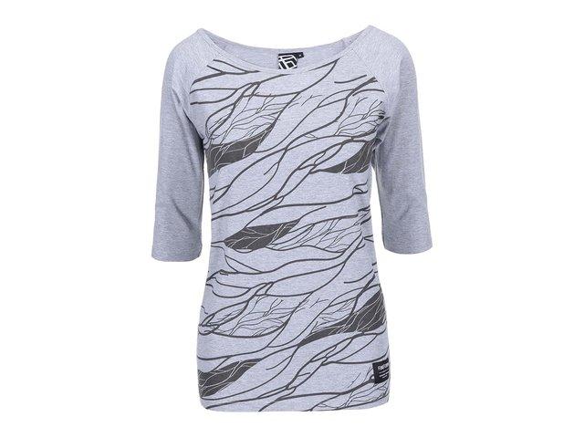 Šedé dámské tričko s potiskem Funstorm Vinsa