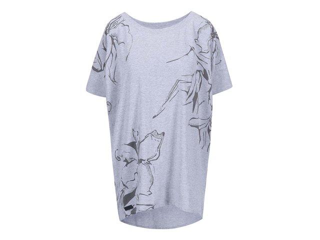 Světle šedé dámské oversized tričko Funstorm Darra