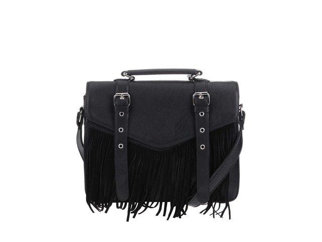 Černá kabelka s třásněmi ONLY Kristen