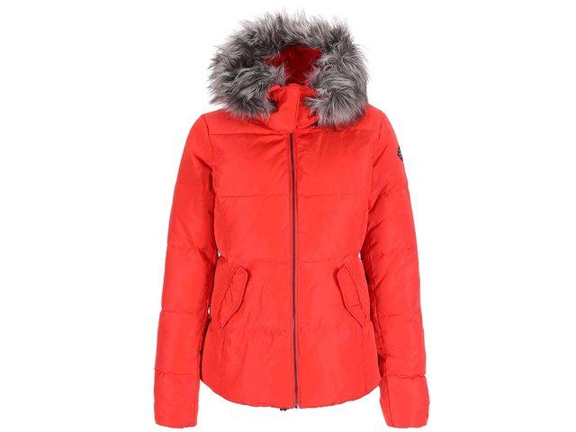 Červená prošívaná bunda ONLY Lana