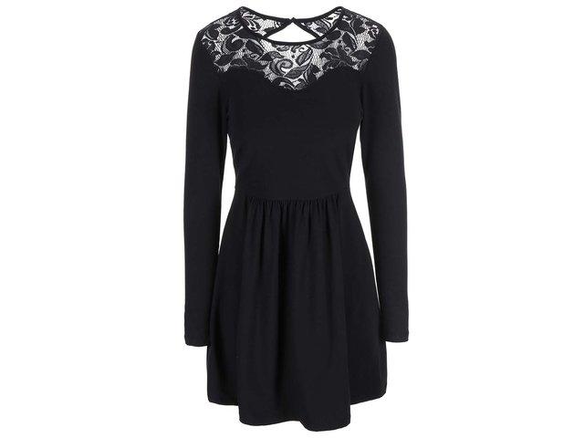 Černé šaty s krajkovým detailem ONLY Niella