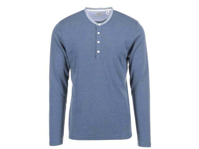 Modré triko s dlouhým rukávem Lindbergh
