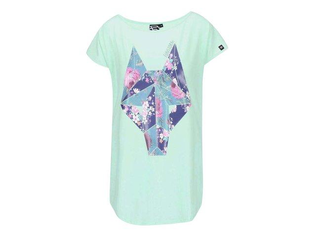 Mentolové dámské tričko s potiskem Funstorm Kara