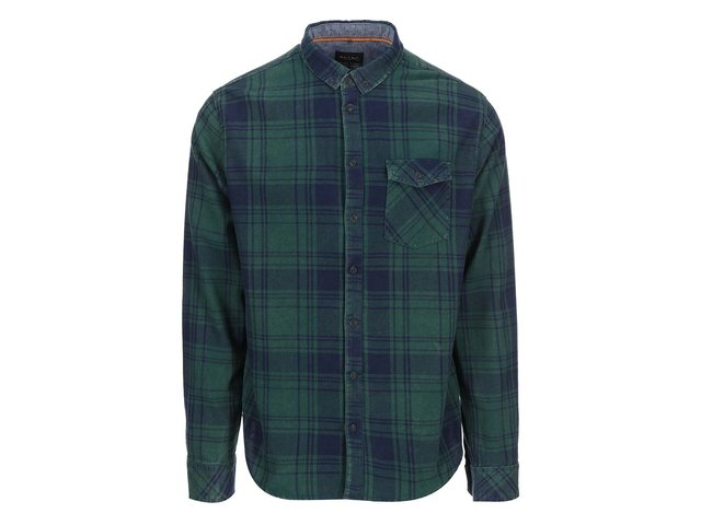 Modro-zelená kostkovaná košile Blend