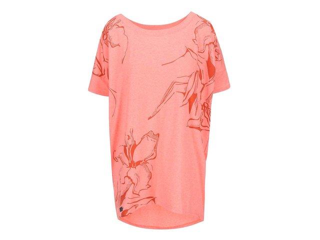 Korálové dámské oversized tričko Funstorm Darra