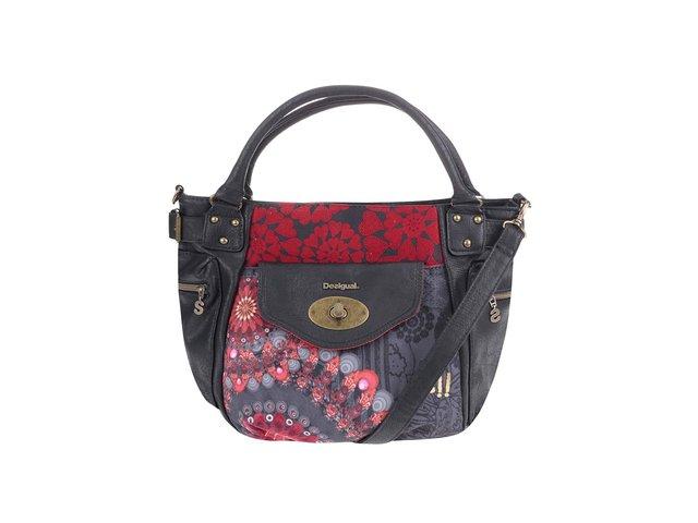 Červeno-černá vzorovaná kabelka Desigual McBee New