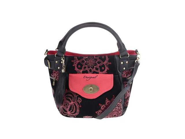 Červeno-černá kabelka se vzory Desigual McBee Indisoft