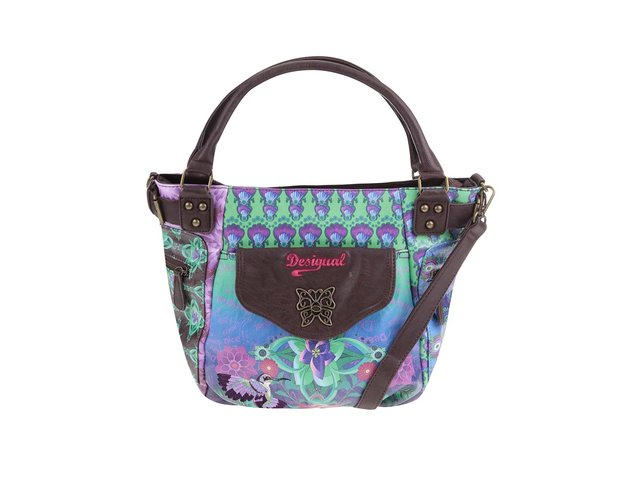 Hnědá kabelka s barevným vzorem Desigual Allegra McBee